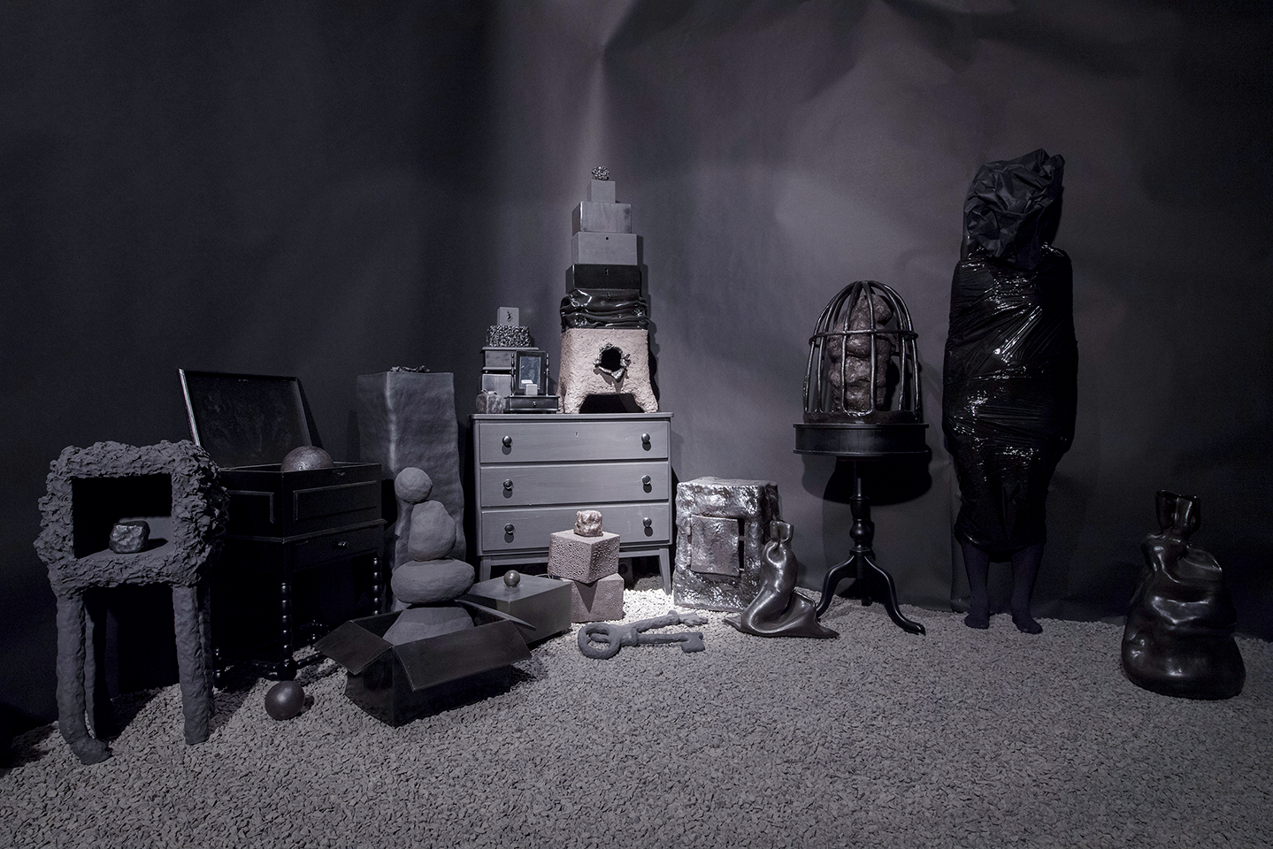 Fanny Ollas Mental Landscapes Black Boxes 2018